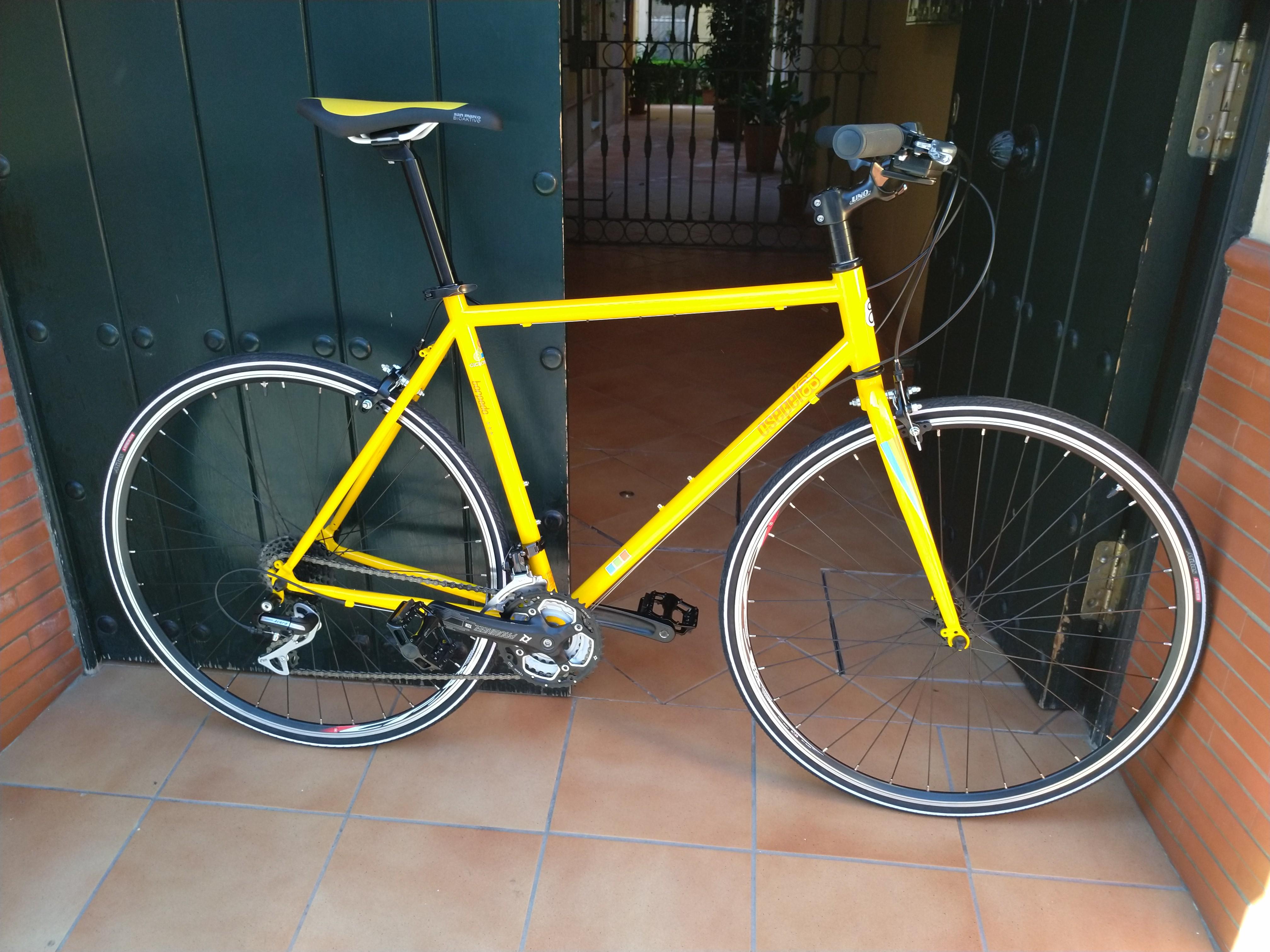 Montaje CRT-Paseo amarilla y negra